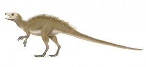 Artist reconstruction of the dinosaur Fruitadens