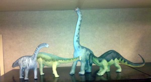 Sauropod dinosaur models from the Carnegie Collection