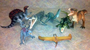 Various dinosaur models from the Carnegie Collection