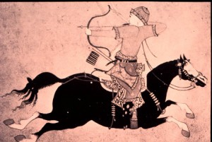 Illustration of a Mongol Warrior