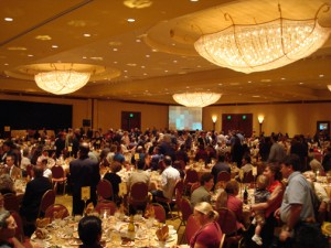 Banquet at a typical professional meeting